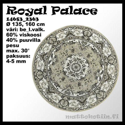VISKOOSIMATTO ROYAL PALACE beige 160 Ø